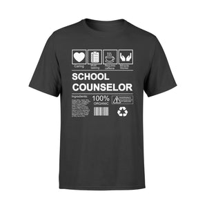 Birthday Gifts - School Counselor 100% Organic T-Shirt - Standard T-shirt