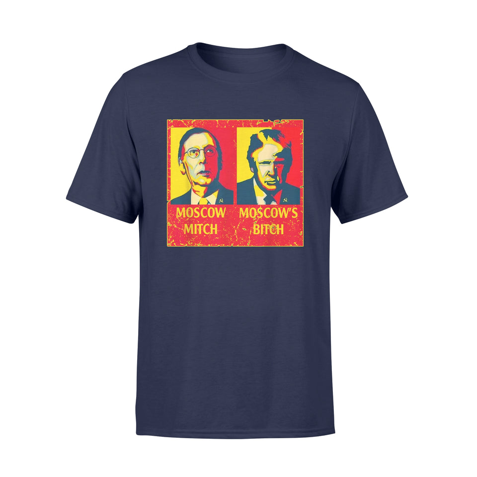 Moscow Mitch Moscow's Bitch Mitch And Trump Traitors - Standard T-shirt