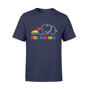 Free Mom Hugs Shirt Pride LGBT Mom Elephant Rainbow - Standard T-shirt