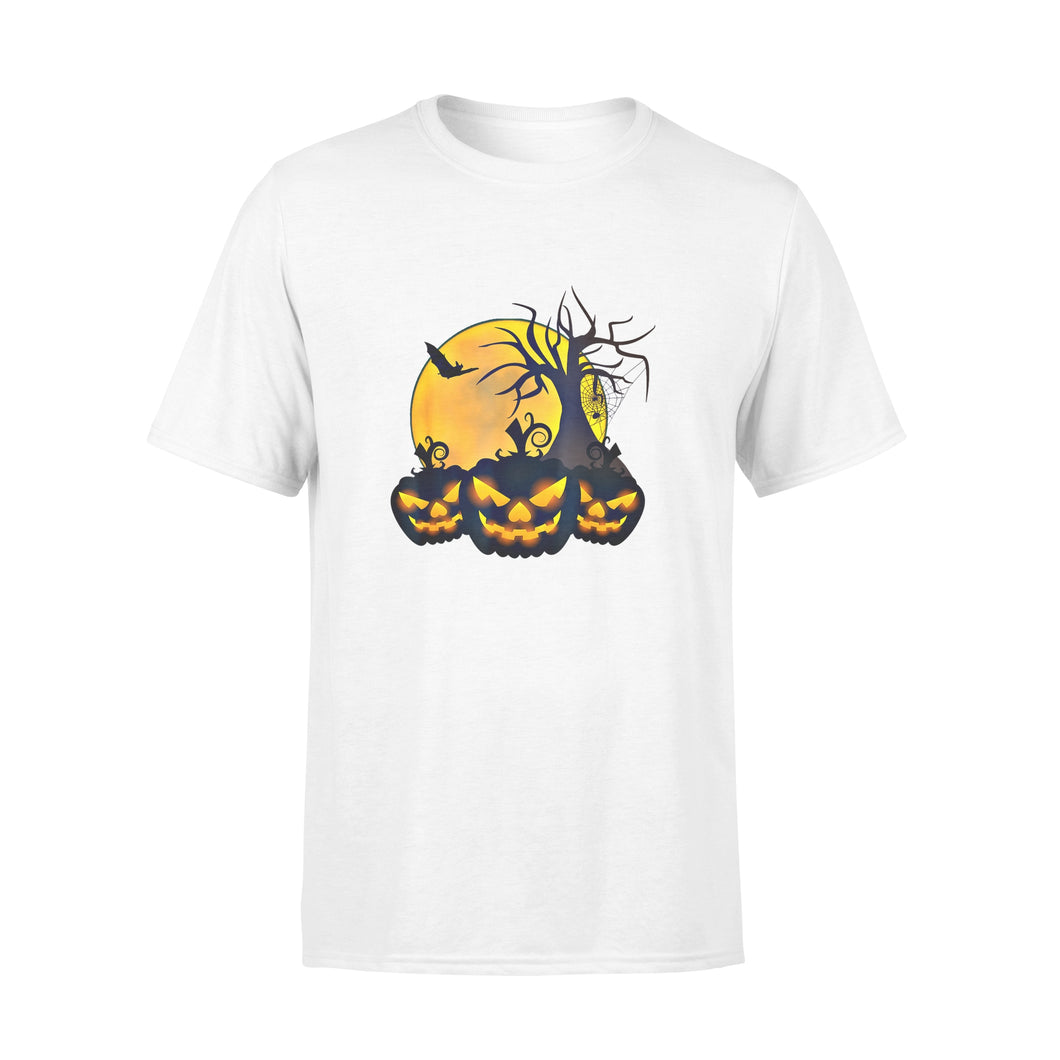 Halloween Gift Idea Scary Spooky Pumpkin Moon Tree Spider Bat - Standard T-shirt