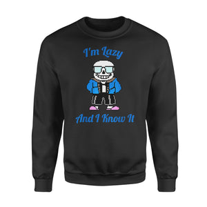 Christmas gift idea Sans Skeleton Cool Pixel Art - Standard Fleece Sweatshirt