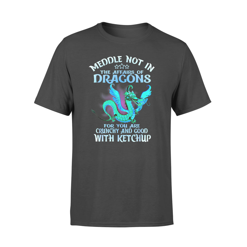 Funny Gift Idea Meddle Not In The Affairs Of Dragons - Standard T-shirt