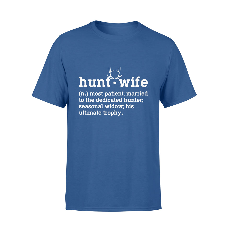 Family Gift Idea - Womens Hunt Wife Most Patient Married - Standard T-shirt