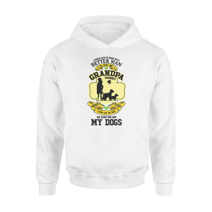 Personalized St. Patrick Gift Idea - I Asked God To Make Me A Better Man For Grandpa - Standard Hoodie