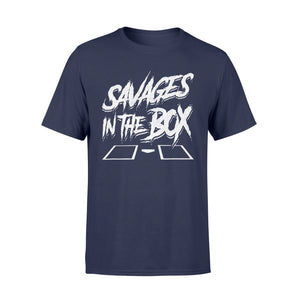 SAVAGES IN THE BOX Shirt Funny Baseball T-Shirt - Standard T-shirt