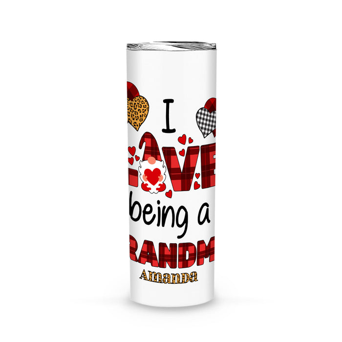 Personalized Love Gift Idea - I Love Being A Grandma - Tumbler (20oz)