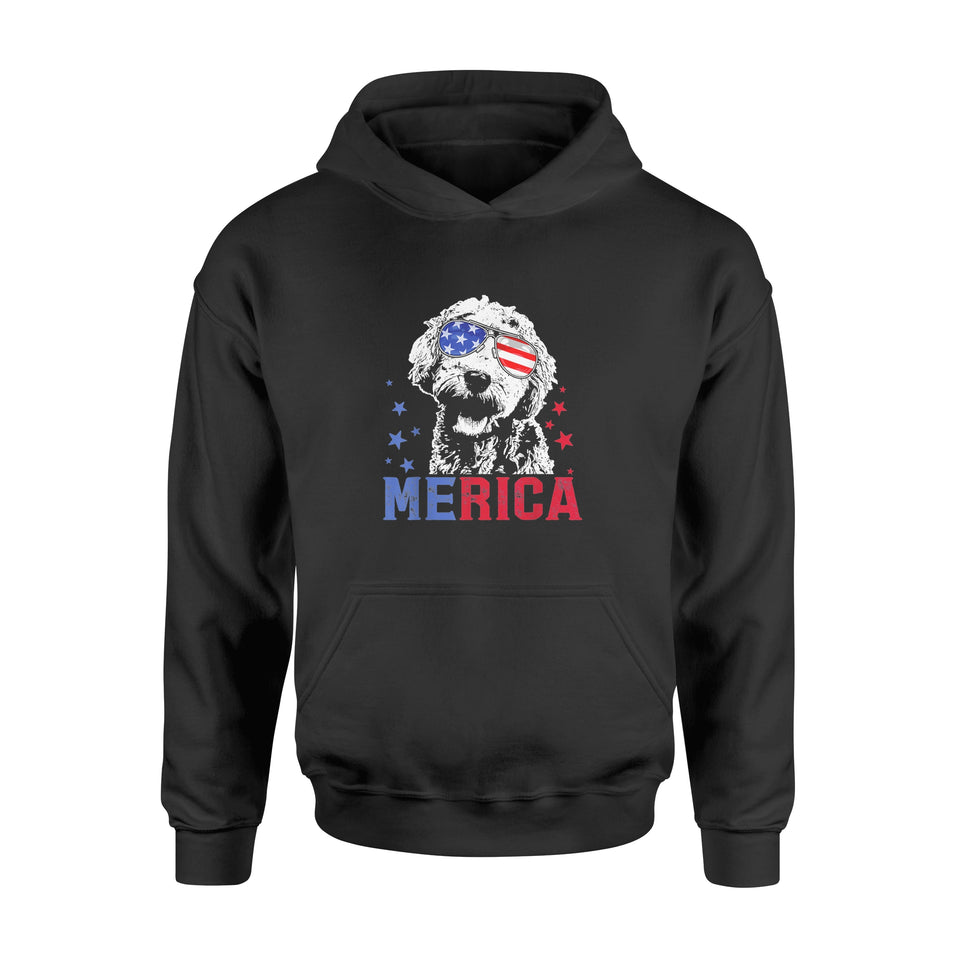 4th of July Merica Goldendoodle T-Shirt - Standard Hoodie