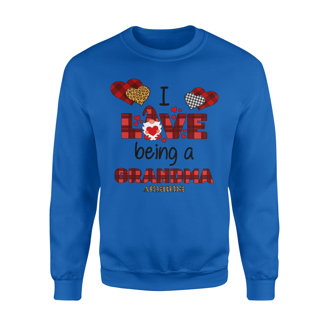 Personalized Love Gift Idea - I Love Being A Grandma - Standard Crew Neck Sweatshirt