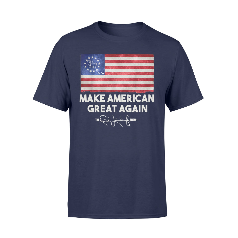 Rush Betsy Ross Make American Great Again Gift T Shirt - Standard T-shirt
