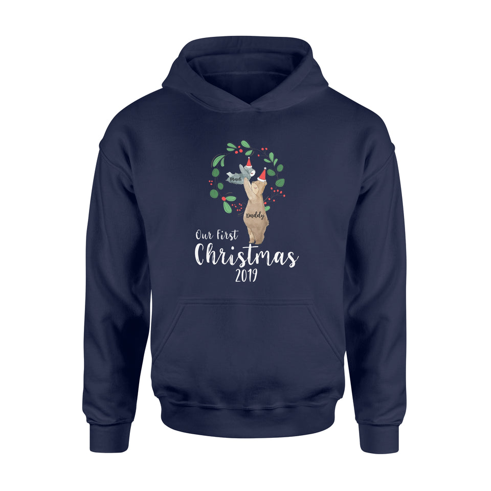 Personalize Christmas Gift Idea Our First Holiday 2019 - 3 - Standard Hoodie