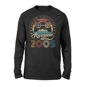 Level 14 Unlocked Awesome Since 2005 - 14th Birthday Gamer - Standard Long Sleeve