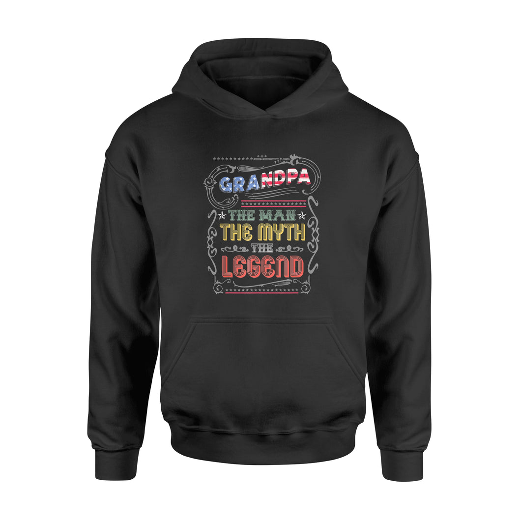 Grandpa The Man The Myth The Legend 4th of July - Standard Hoodie