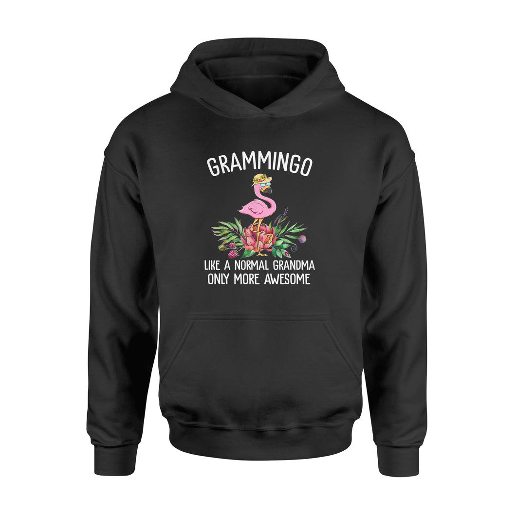 Grammingo Like A Normal Grandma Only More Awesome Flamingo - Standard Hoodie