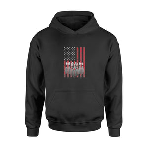 4th of July American Flag Bowling T-shirt Patriotic Bowler - Standard Hoodie