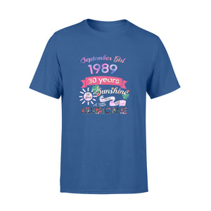 Birthday Gift Idea Sep Girl 1989 30 Years Sunshine - Comfort T-shirt