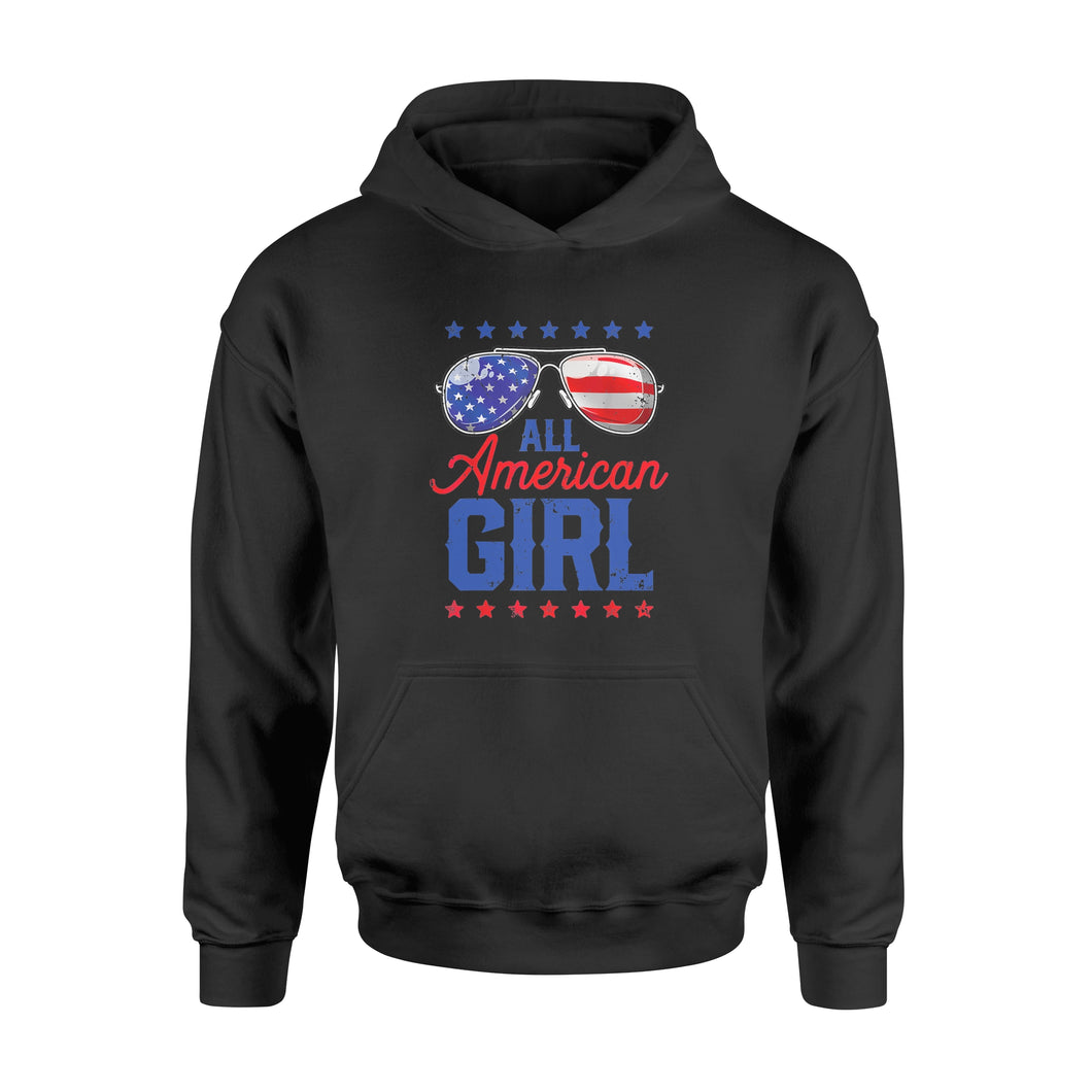 All American Girl 4th Of July, Family Matching Sunglasses - Standard Hoodie