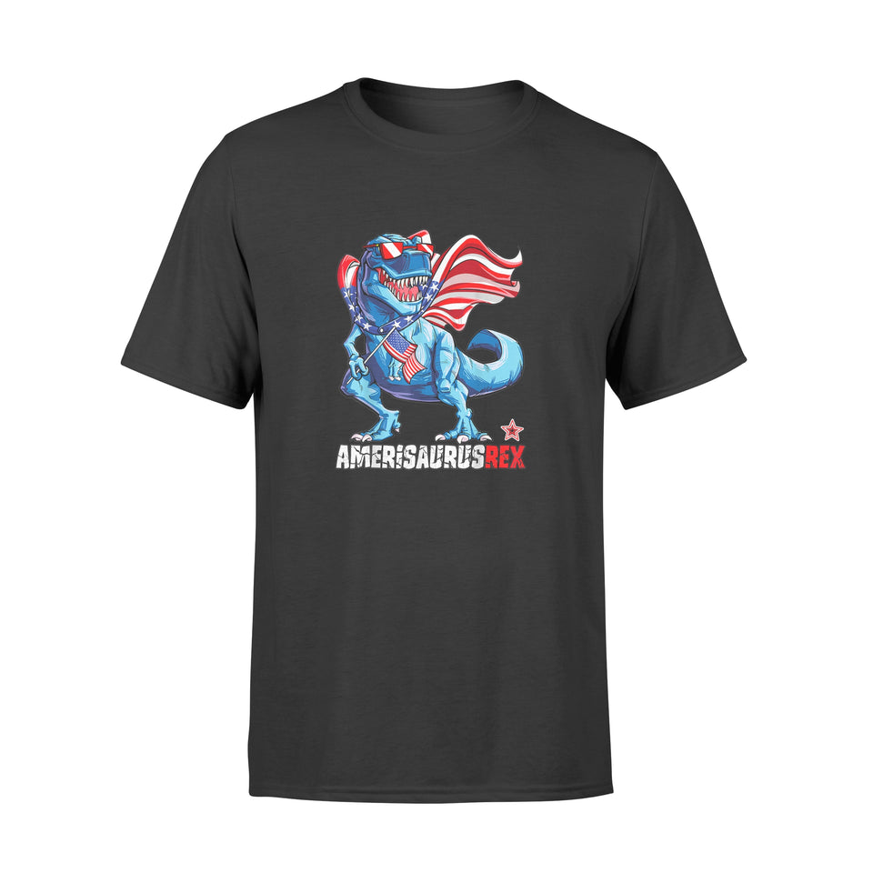 Dinosaur 4th of July T shirt Amerisaurus T Rex Shirt - Standard T-shirt