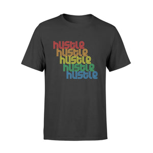 Hustle Repeat T-Shirt Vintage Disco 70s Retro FunK Shirts - Premium T-shirt