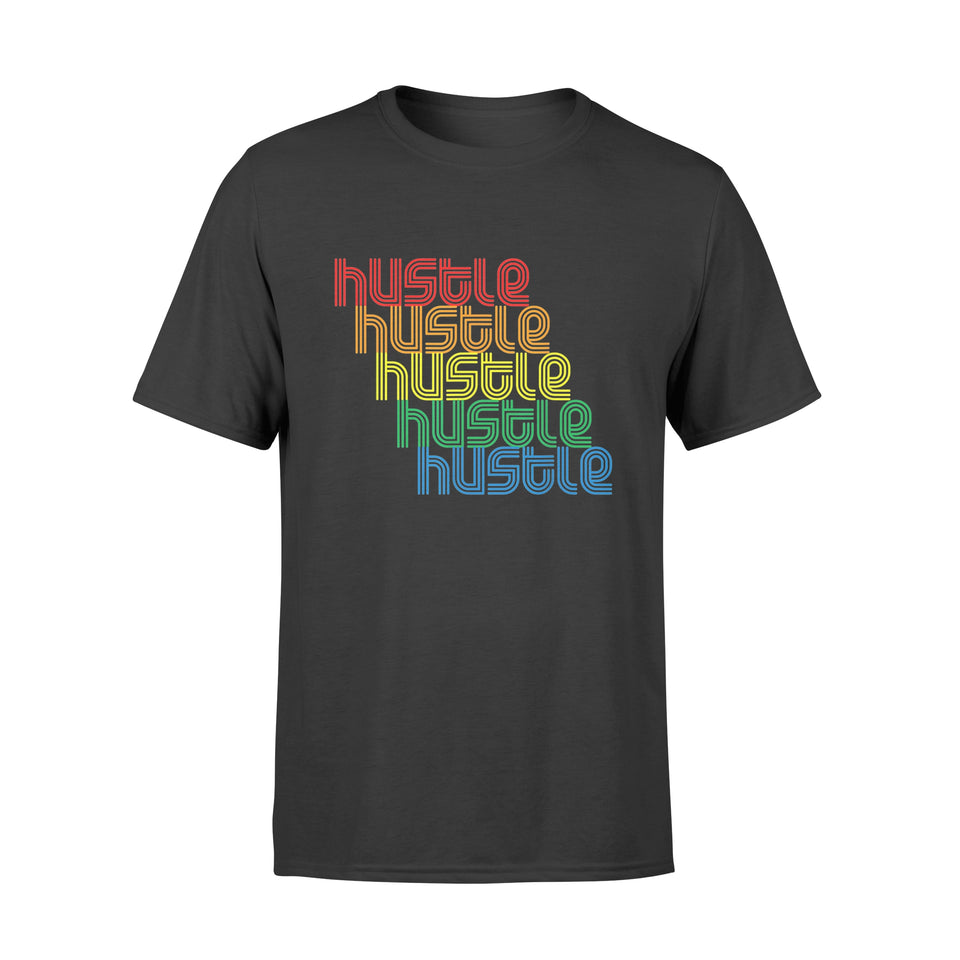 Hustle Repeat T-Shirt Vintage Disco 70s Retro FunK Shirts - Standard T-shirt
