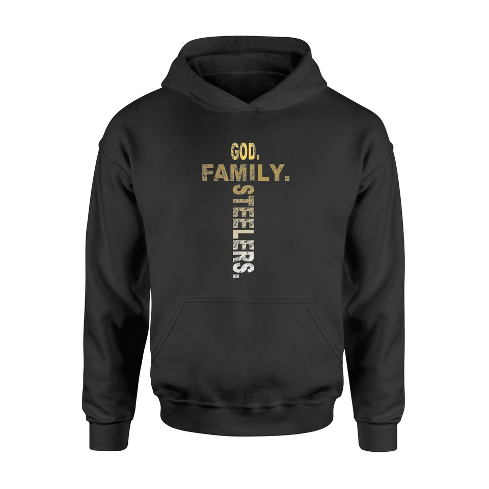 4th of July God Family Steelers T Shirt - Standard Hoodie