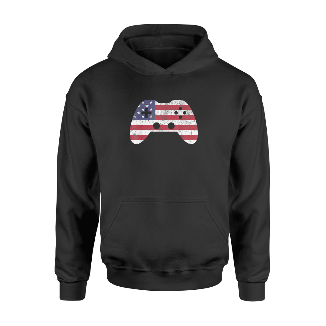 4th Of July T Shirt Gift Video Game Gamer Kids Boys Men USA - Standard Hoodie