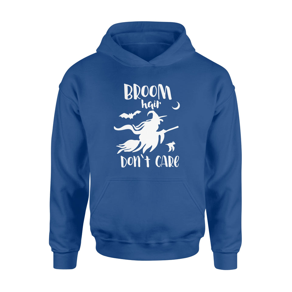 halloween Gift Ideas Witch Funny | Broom Hair Don't Care-2 - Standard Hoodie