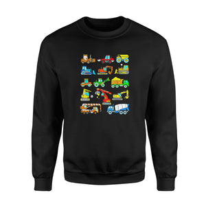 Son gift idea Construction Excavator T-Shirt - Standard Fleece Sweatshirt