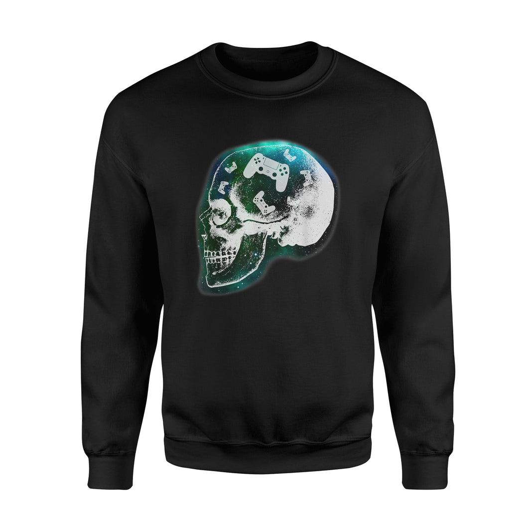 Mind Controller Skull Gaming T-Shirt Gift - Premium Fleece Sweatshirt