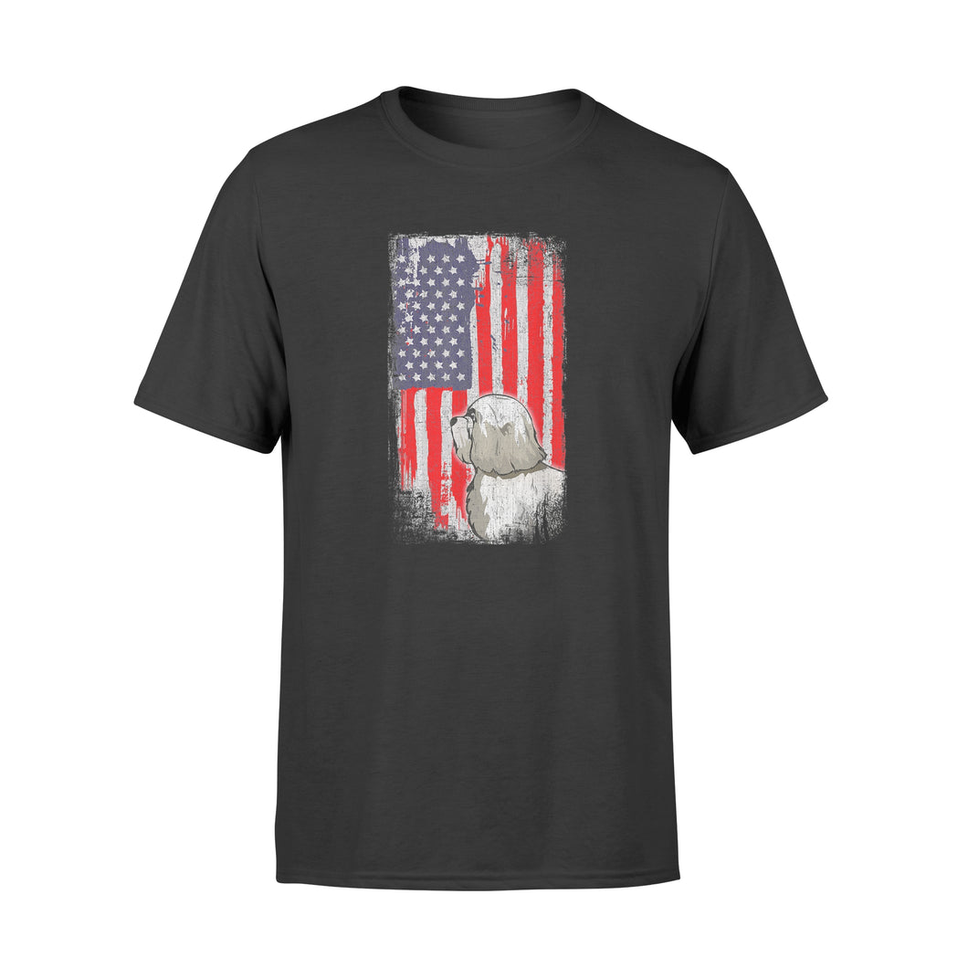 Havanese American Flag Patriotic 4th of July Shirt - Standard T-shirt