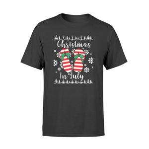 Christmas In July Ugly Christmas Flip Flops - Standard T-shirt