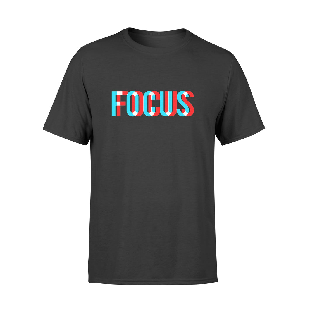 Focus - Optical Illusion Trippy Motivational T Shirt - Premium T-shirt