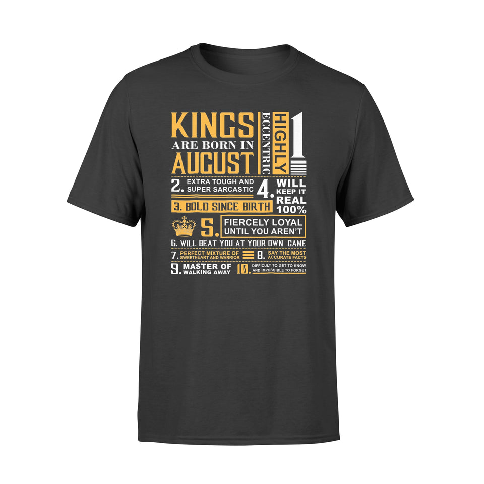 Birthday Gifts - Kings are Born In August - Premium T-shirt