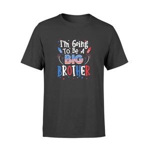Big Brother Cute 4th Of July Pregnancy Announcement Gift - Premium T-shirt
