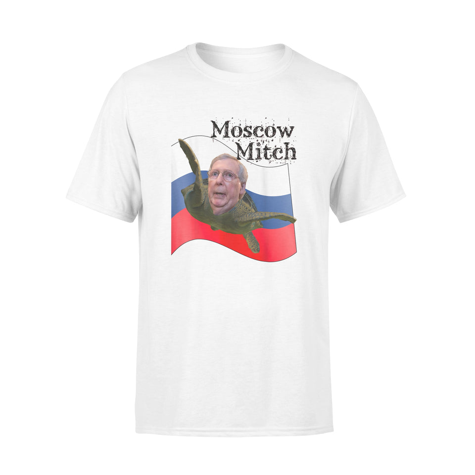 Moscow Mitch Shirt McConnell Turtle Russian Flag T-Shirt - Standard T-shirt