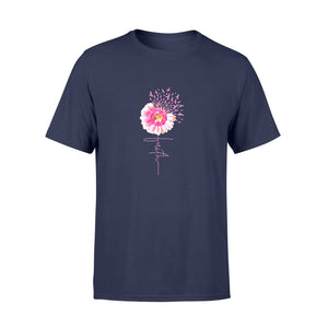 Pride Gift Idea Pink Ribbon Daisy Faith- Breast Cancer - Standard T-shirt
