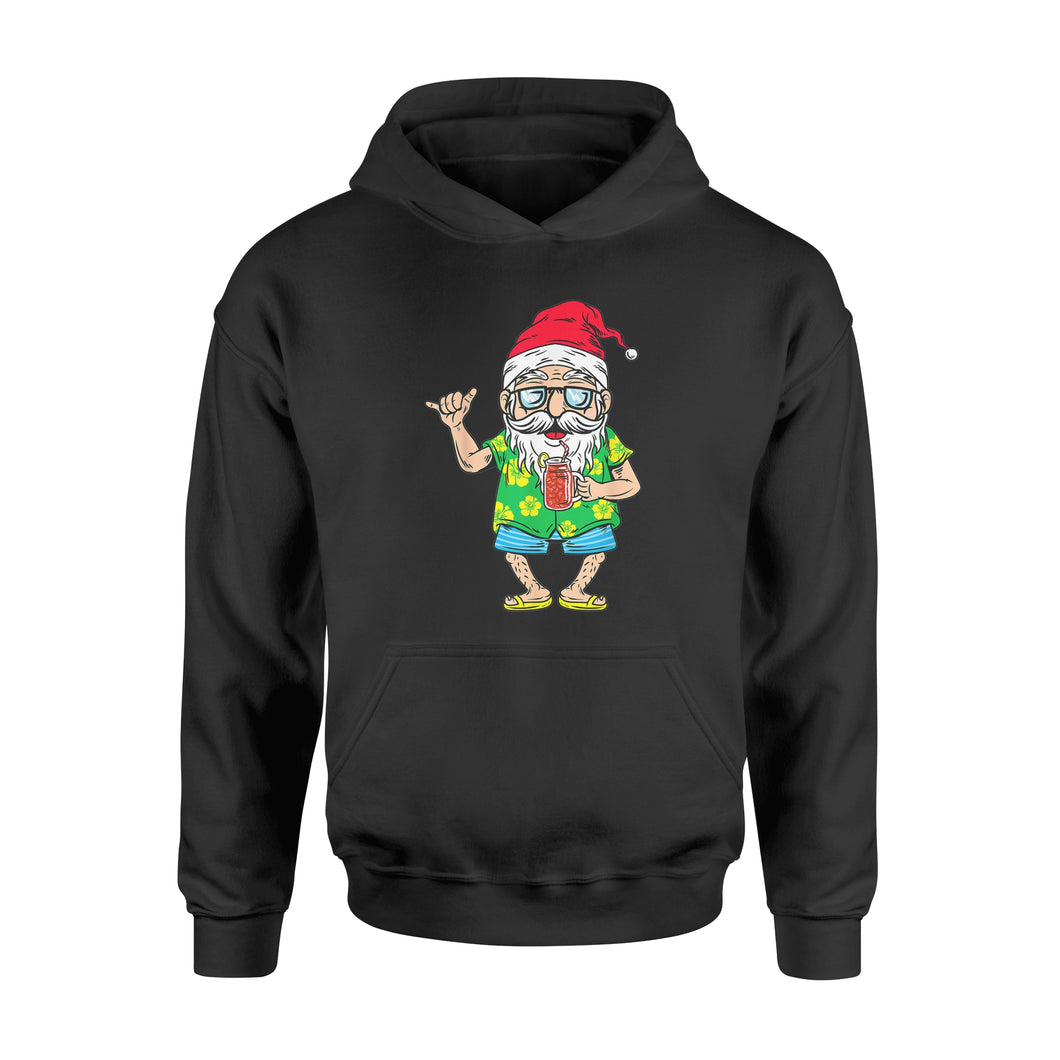 Christmas In July 2019 Santa Hawaiian Beach Summer - Standard Hoodie