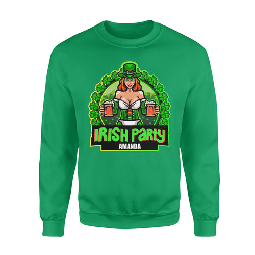 Personalized St. Patrick Gift Idea - Irish Party Sexy Girl - Standard Crew Neck Sweatshirt