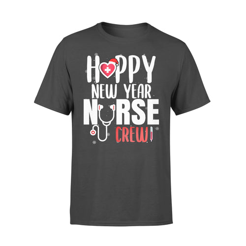 Nurse gift idea Happy New Year Crew Santa's Favorite - Standard T-shirt