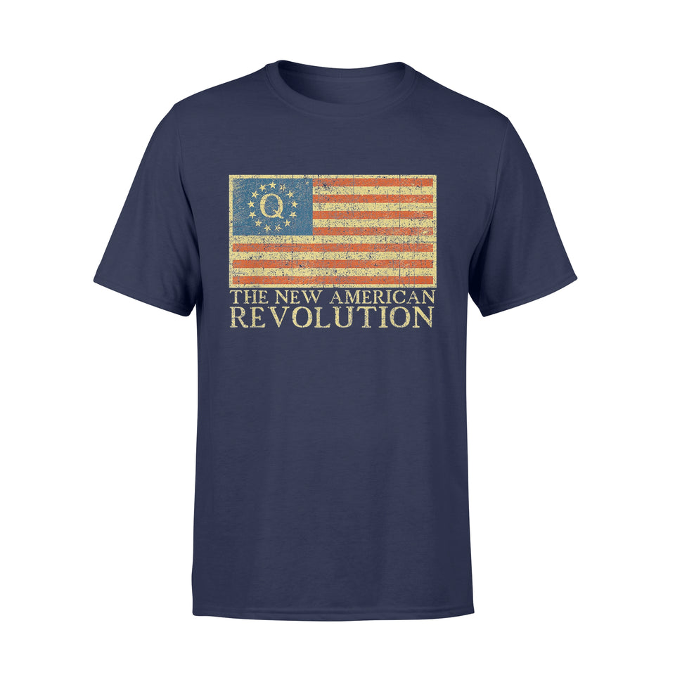 Trump Rally Q Anon Shirt The New American Revolution T-Shirt - Standard T-shirt