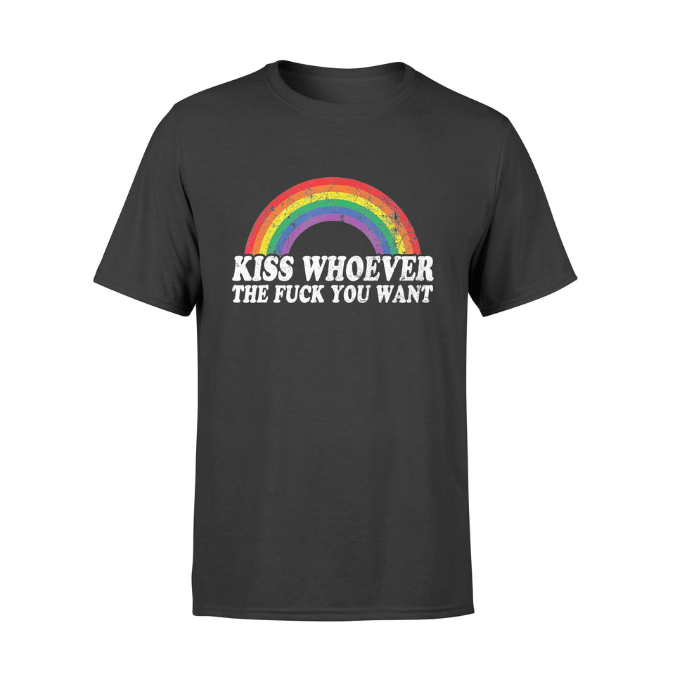 Lgbt Pride Kiss Whoever The F You Want - Standard T-shirt