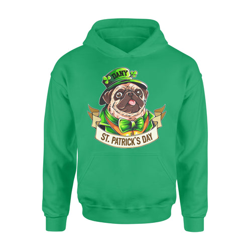 Personalized St. Patrick Gift Idea - Funny Mr. Bulldog - Standard Hoodie
