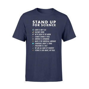 Stand Up For Science - Magic But Real Earth Moon - Standard T-shirt