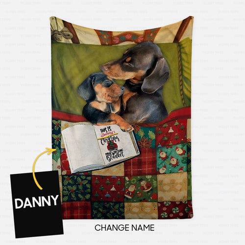 Personalized Blanket Gift Idea - This's Christmas Movie Watching Blanket For Dachshund Lovers - Fleece Blanket