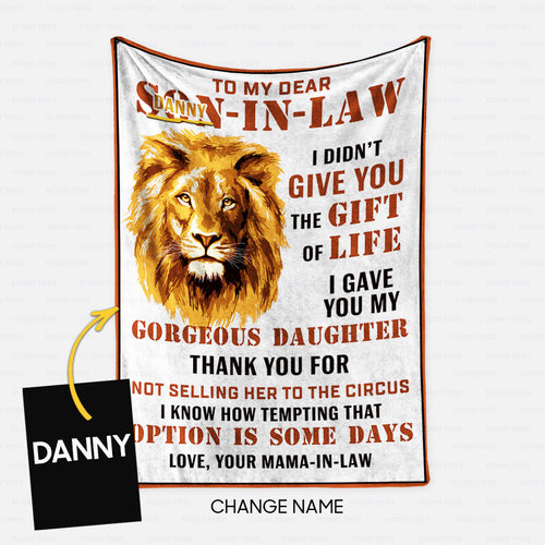 Personalized Blanket Gift Idea - Son In Law For Your Dear - Fleece Blanket