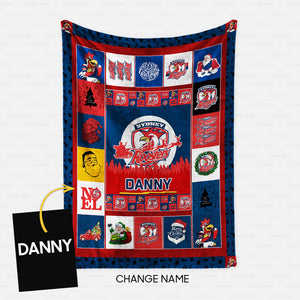 Personalized Christmas Blanket Gift Idea - Funny Roosters For Fans - Fleece Blanket