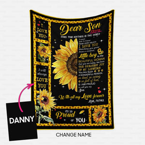 Personalized Blanket Gift Idea - More Than Anything In This World For Father's Son - Fleece Blanket
