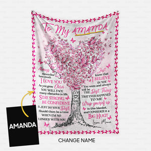 Personalized Blanket Gift Idea - To My Daughter With Big Hug For Your Daughter - Fleece Blanket