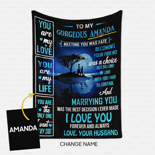 Personalized Blanket Gift Idea - To My Gorgeous Wife For Your Wife - Fleece Blanket