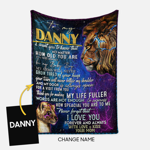 Personalized Blanket Gift Idea - To My Son, I Want You To Know That For Your Son - Fleece Blanket