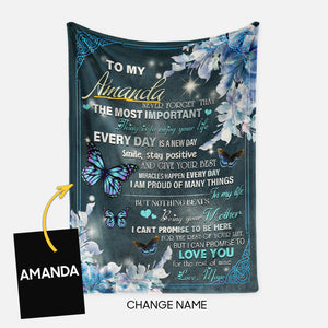 Personalized Blanket Gift Idea - To My Daughter, Never Forget That For Your Daughter - Fleece Blanket